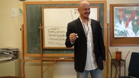 Michael presenting his Honor Window